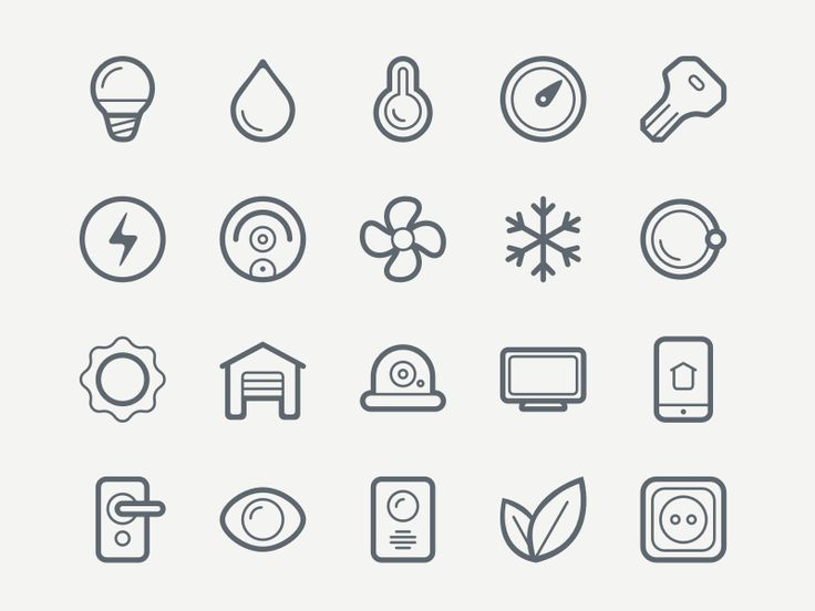 Smart House Icon Set, #EPS, #Free, #Graphic #Design, #Icon, #PNG, #Resource, #SVG, #Vector