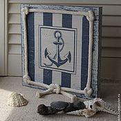 """Картины и панно ручной работы. Ярмарка Мастеров - ручная работа панно """"Карибское море. Якорь"""". Handmade."""