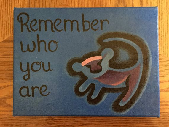 Disney's The Lion King Quote Acrylic Painted by DisneyCanvasQuotes