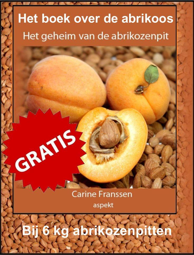 """""""HET GEHEIM VAN DE ABRIKOZENPIT"""" Nu uit voorraad leverbaar bij www.abrikozenpit.nl Nu tijdelijk gratis bij een bestelling vanaf 6 kg abrikozenpitten of amandelpitten!"""