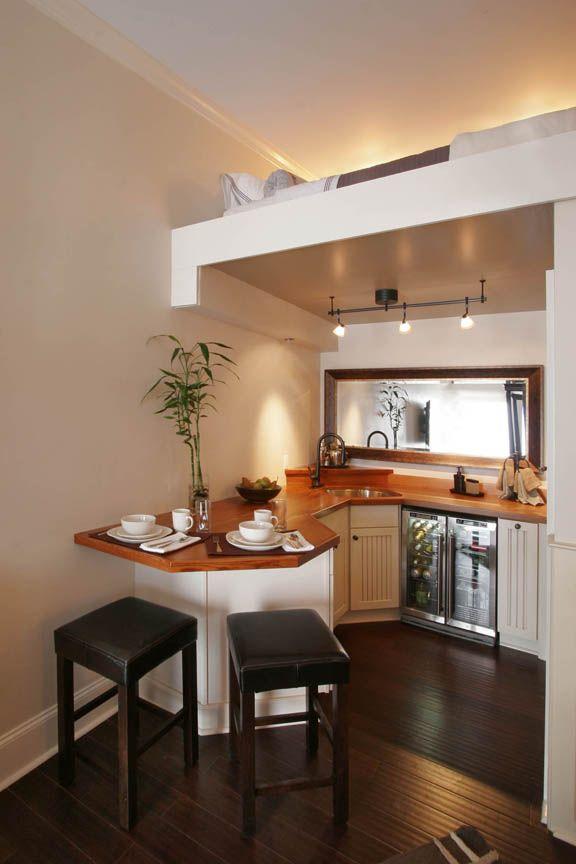 Beautiful Kitchen with Sleeping Loft Above | Portfolio Tybee Island | TheSavannahCabinetShop.com