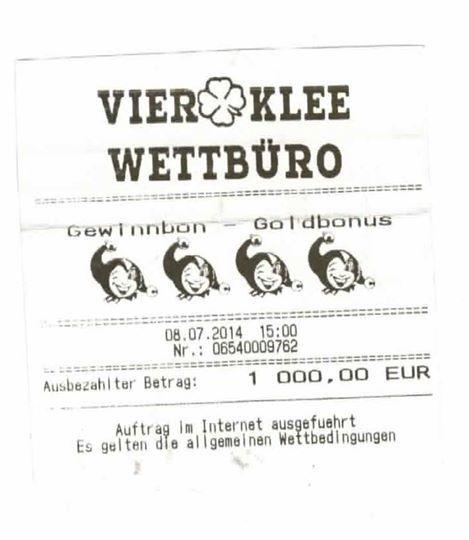 Jackpot-System - 1000,- Euro Gewinn.
