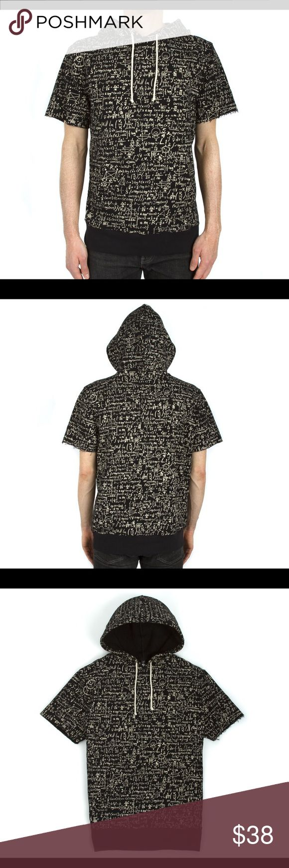 All Over Chalkboard Short Sleeve Hoodie Mathematics is the hidden architecture of the universe. 100% cotton french terry short sleeve hoodie. Featuring soft hand printing, kangaroo pouch and contrasting draw cord. imaginary foundation Shirts Sweatshirts & Hoodies