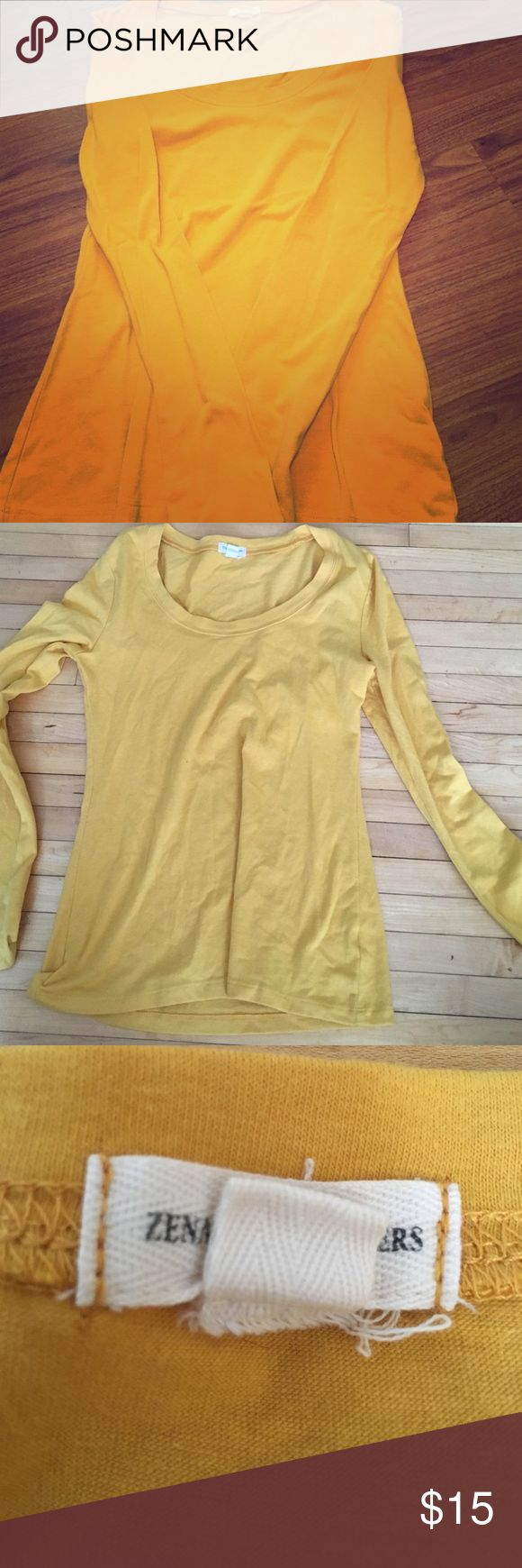 Zenana Outfitters Women's Medium Zenana Outfitters size medium women's goldenrod yellow long sleeve top Zenana Outfitters Tops Tees - Long Sleeve