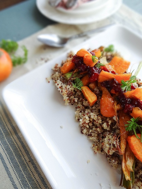 roasted carrot quinoa salad ~ cranberry chutney from Sunday Morning ...