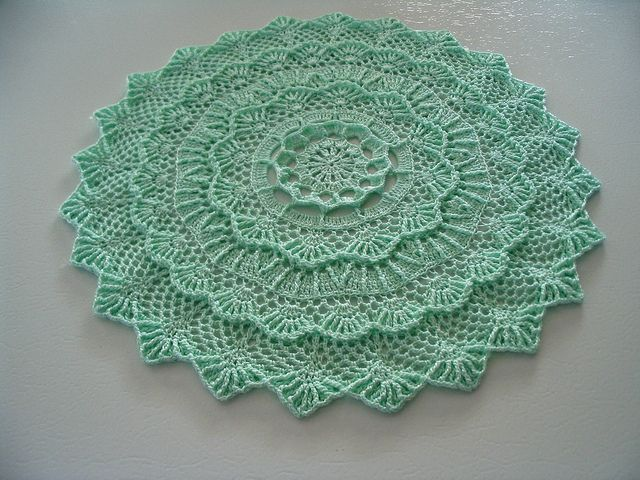 Color Doily - 8    Would make a beautiful pillow top ~!~Mint Green, Colors Doilies, Mary Werst, Leisure Art,  Dishcloth, Art Book, Linda Crochet, Crochet Doilies, Crochet Pattern