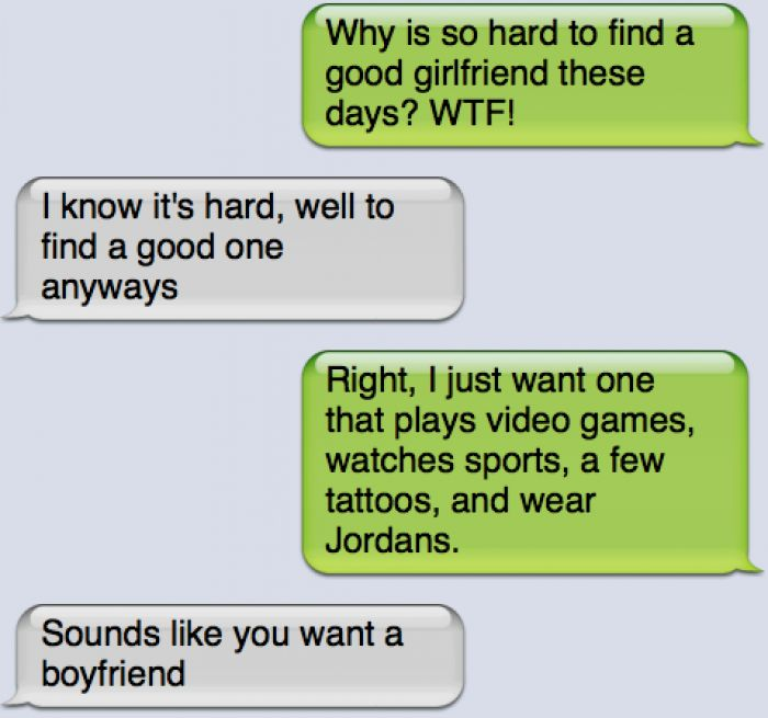 Funny text - Cant find a girlfriend - http://www.jokideo.com/