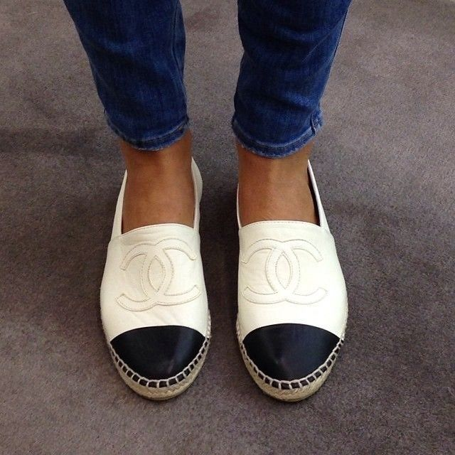 Pin on Chanel Loafers \u0026 slip-ons