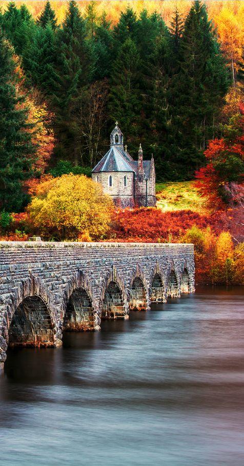 Nantgwyllt Chapel and Bridge, Elan Valley ~ Rhayader Dams, Powys, Wales....