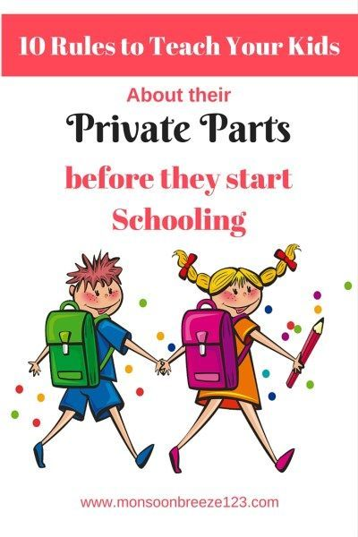 10 Rules to Teach Your Kids about their Private Parts Before they Start Schooling