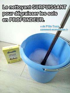 Il existe un produit maison pour dégraisser les sols en profondeur sans laisser de traces. Tout ce dont vous avez besoin, ce sont des cristaux de soude et du vinaigre blanc. Regardez :-) Découvrez l'astuce ici : http://www.comment-economiser.fr/nettoyant-surpuissant-pour-degraisser-les-sols-en-profondeur.html?utm_content=bufferca0ab&utm_medium=social&utm_source=pinterest.com&utm_campaign=buffer