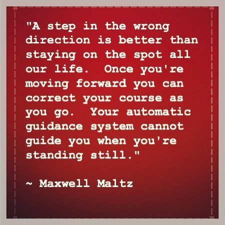 Maxwell Maltz Forward Progress