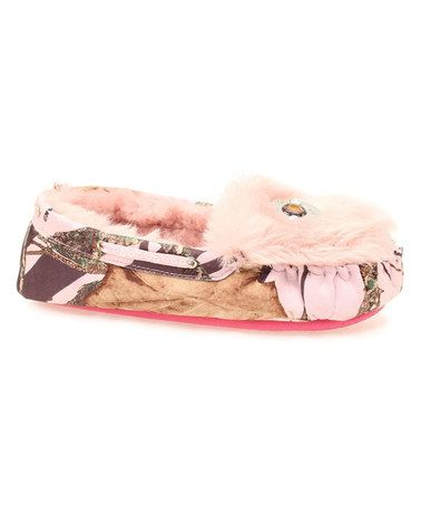 Blazin Roxx Light Pink Camo Moccasin Slipper Women