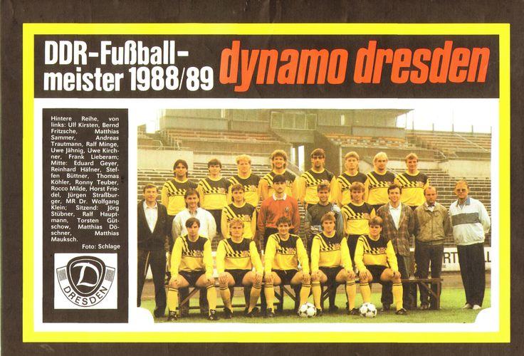 Dynamo Dresden 1989 Champion