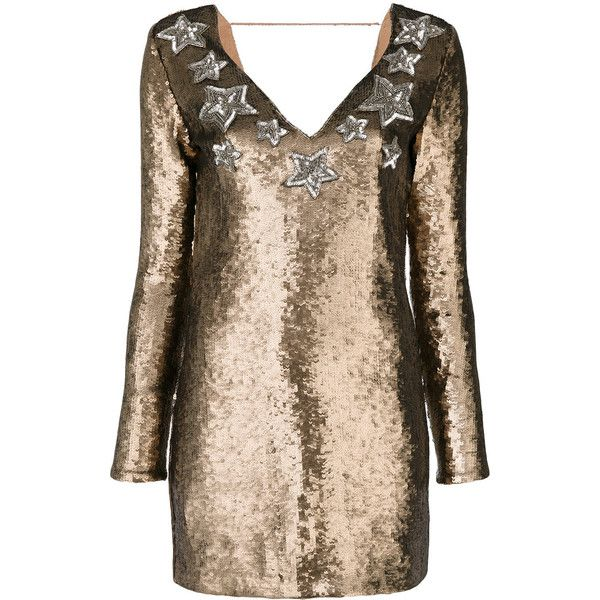Just Cavalli sequined star dress ($1,135) ❤ liked on Polyvore featuring dresses, grey, metallic sequin dress, grey sequin dress, grey dresses, star print dress and starry dress