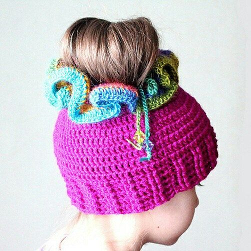 Messy Bun Hat Pattern