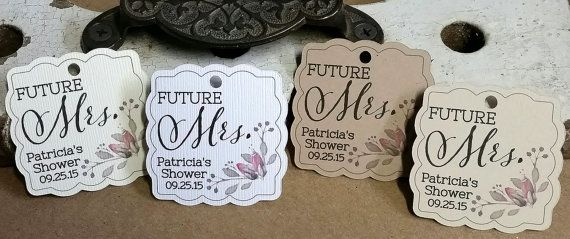 Bridal Shower Favor Tag, Personalized Gift Tags or Shower Favor Tags, Custom Labels, Custom Gift Card