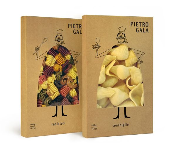 Pietro Gala. Package with a die-cut.