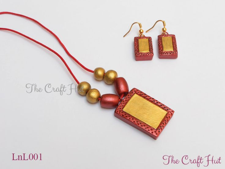 #TheCraftHut #TerracottaJewellery Rs.350 #LnL Handcrafted Terracotta Jewellery set