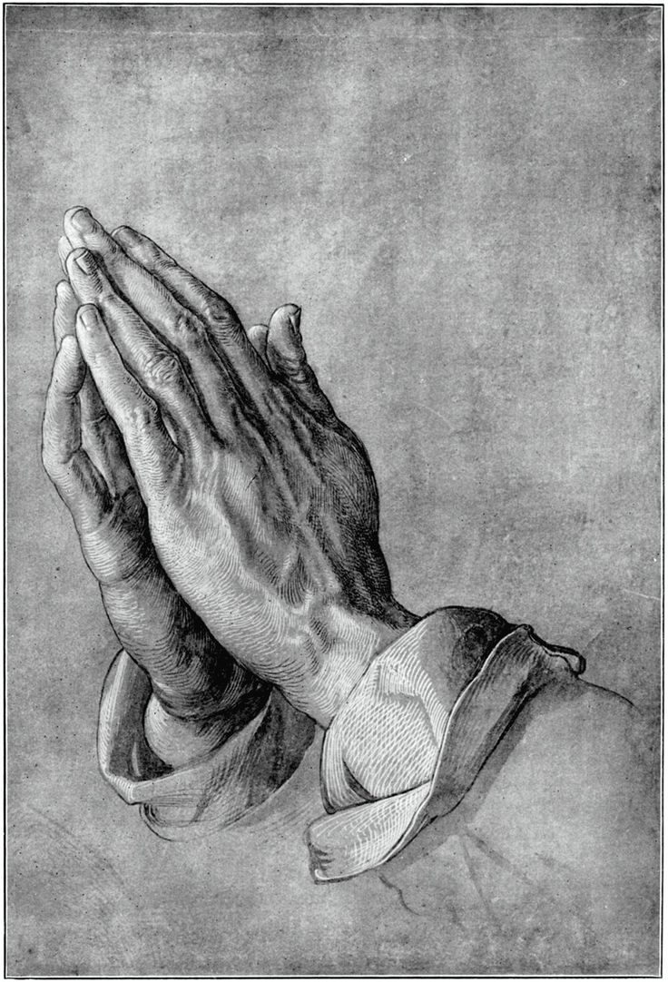 """Drawing: """"Praying Hands"""" - Artist: Albrecht Durer, 1508"""