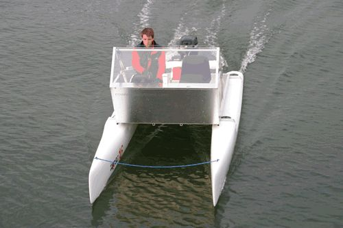 Rowing Solutions small power cat | Wooden boat plans ...