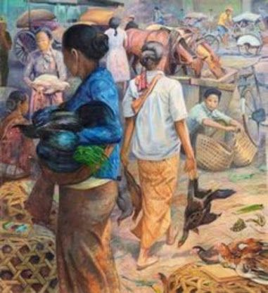 (Painting by Huang Fong ,Indonesia)