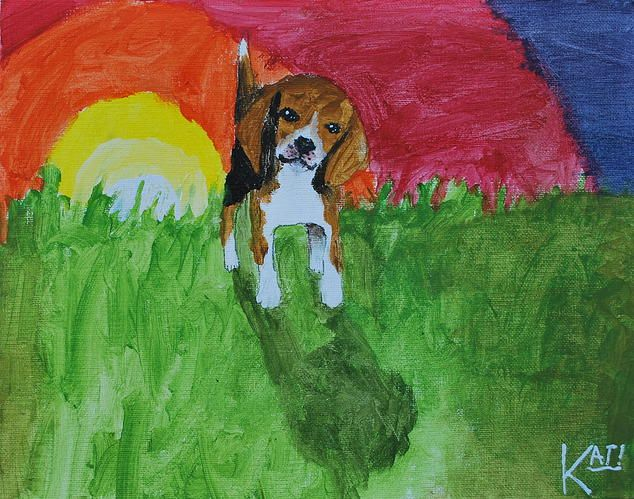 Kids Against Lab Beagles - 11 year old Kat loves to paint beagles, and 100% of the profits of each painting sold goes to The Beagle Freedom Project! A group whose mission is rescuing and finding homes for beagles used in laboratory research.