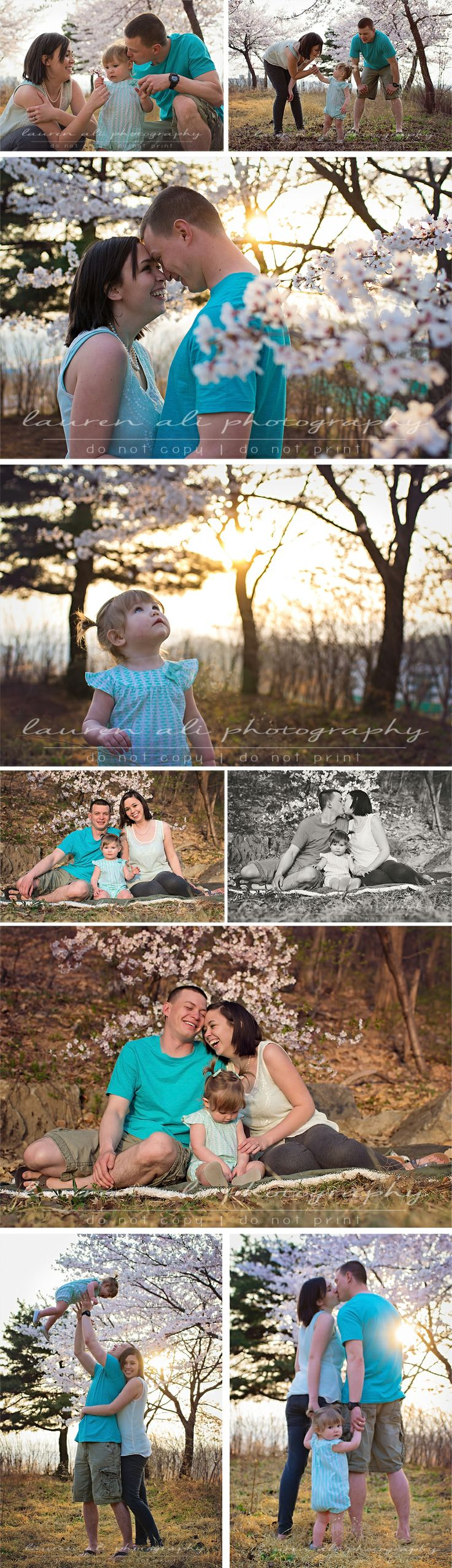 a sweet cherry blossom family session | Lauren Ali Photography | www.laurenaliphotography.com