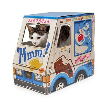 Look what I found at UncommonGoods: Ice Cream Truck Pet House for $29.00