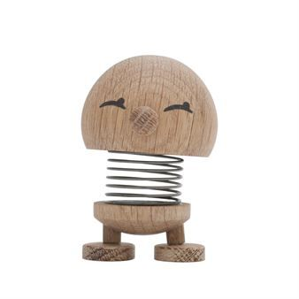 Bimble decoration from Hoptimist is a classic and the original figure in plastic was designed by Hans Gustav Ehrenreich in 1969. The modern version in oak is designed by Lotte Steffensen but what many people don´t know is that Hans Gustav Ehrenreich originally worked with noble wood species. The Bimble in oak is Danish design of highest quality and is assembled by hand. A true bringer of happiness!