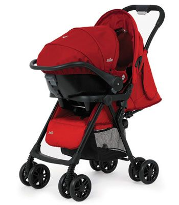 Joie Aire Travel System - Poppy Red | Kiddicare