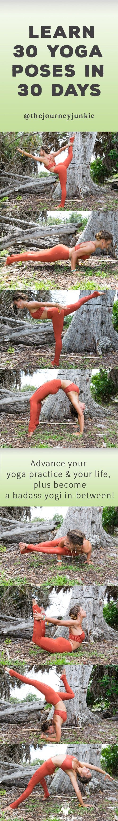 Join the 30 pose journey to advance your yoga practice and your life, plus…