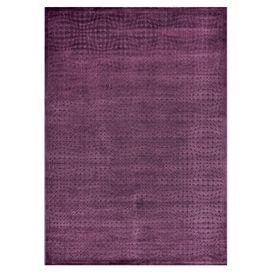 Halton Contemporary Chenille Rug in Purple
