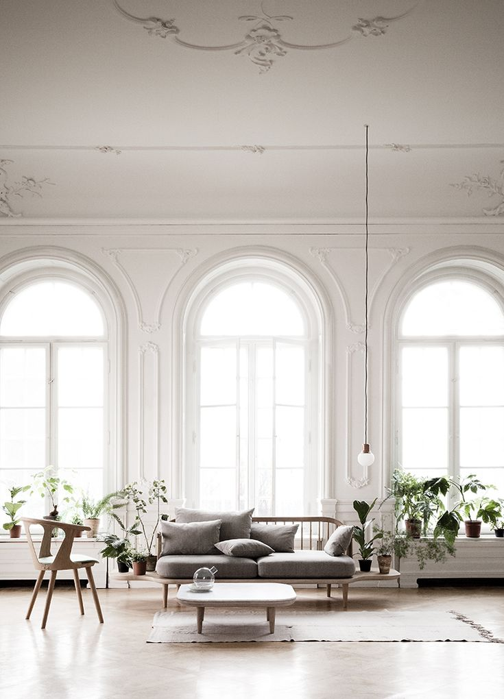 Living Rooms, White Spaces, Dreams, Open Spaces, Livingroom, Interiors Design, High Ceilings, Windows, White Interiors