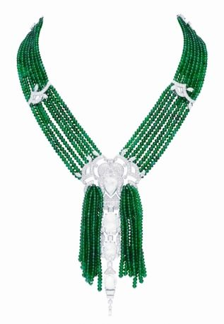 """Les Jardin Bomarzo"", an emerald and diamond necklace by Van Cleef & Arpel"