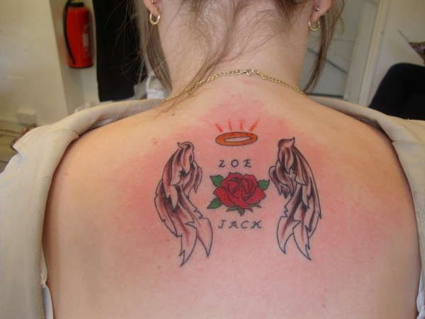 Rose and Angel Wing Tattoo | Angel Tattoo Designs | Angel ...