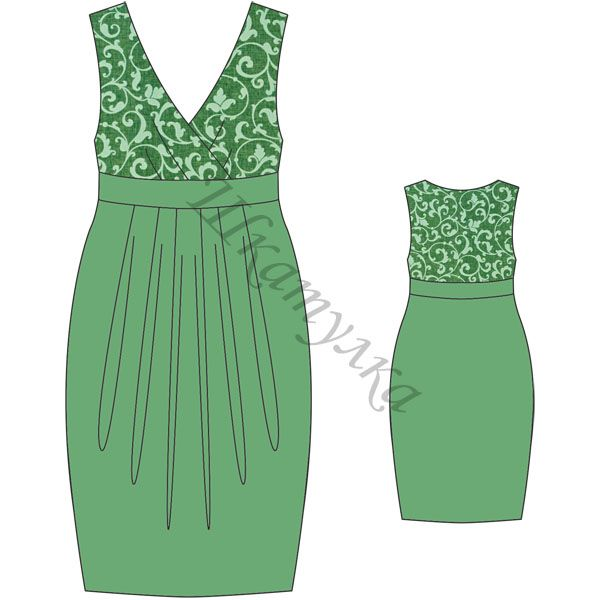 Green Dress - Free pdf pattern - gratis Schnittvorlage - choose size - then click the green link on the right side to get the free pdf pattern
