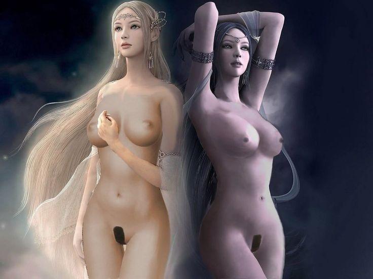 Shaiya Light and Darkness nude wallpaper by irakika  Gaming