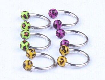 CBR print Leopard ball nose rings body jewelry charm body jewelry piercings