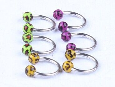CBR print Leopard ball nose rings body jewelry charm body jewelry piercings