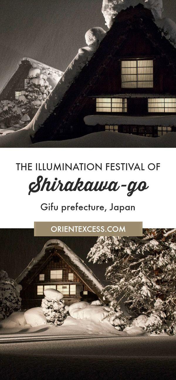 Visit the Shirakawa-go Illumination Festival in the Gifu prefecture of Japan.