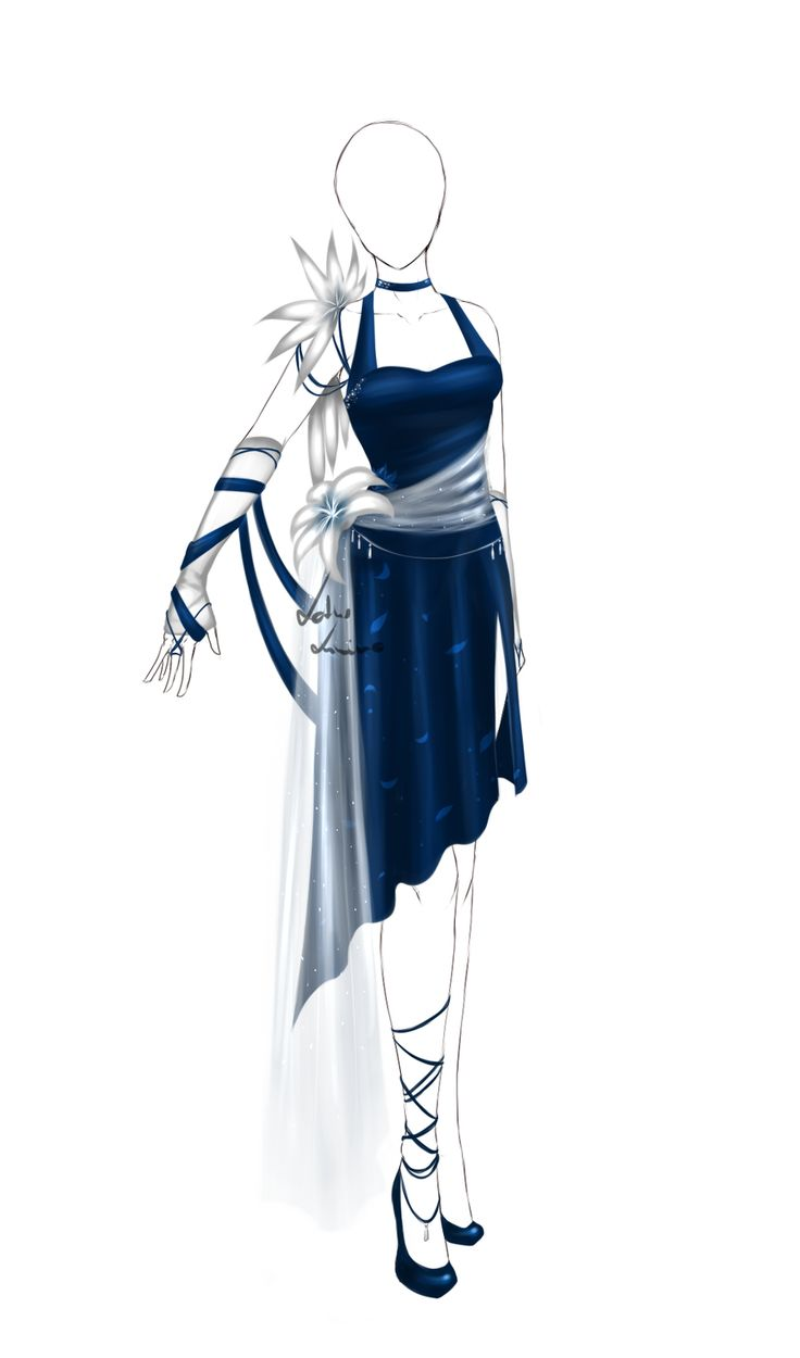robe longue et bleu