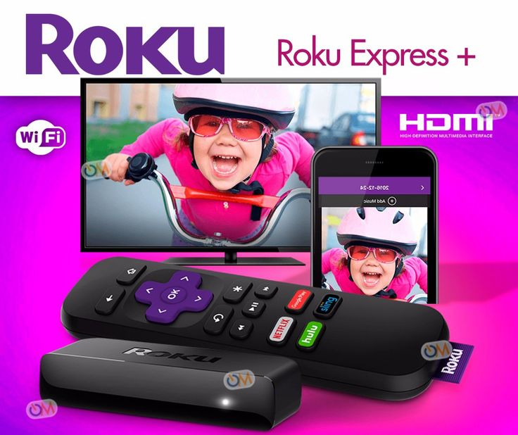 Roku Express+ HD Media Streamer 3910RW Roku, Smart