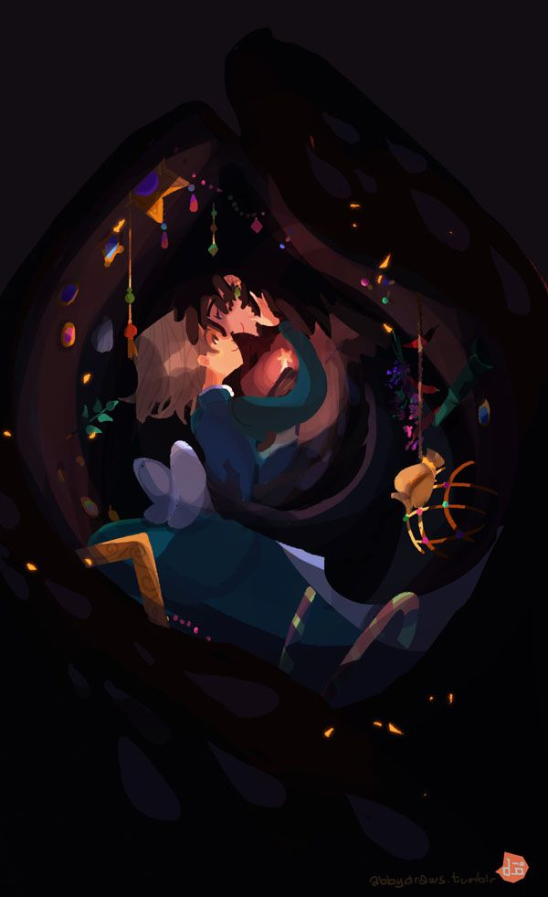 Howl and Sophie - from Howl's Moving Castle by Diana Wynne Jones- -adapted for screen by Studio Ghibli
