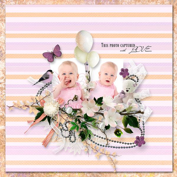 """Peachy Plum"" by Angels Designs, http://www.oscraps.com/shop/Peachy-Plum.html"
