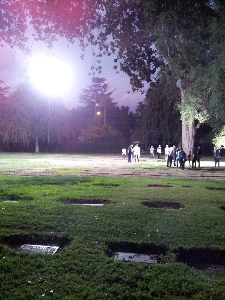 They needed daylight at night while shooting at a cemetery.