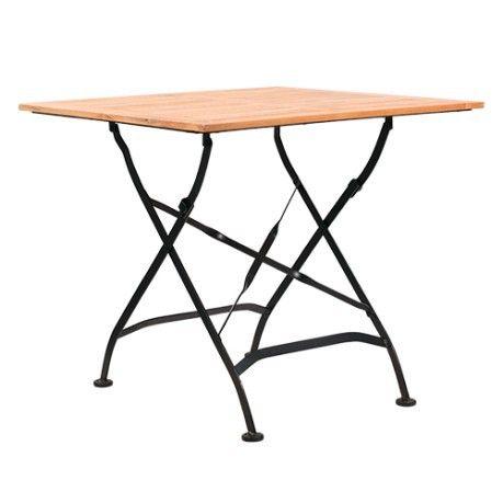 Tavolo pieghevole da esterno con listelli in Rovere VERA 88