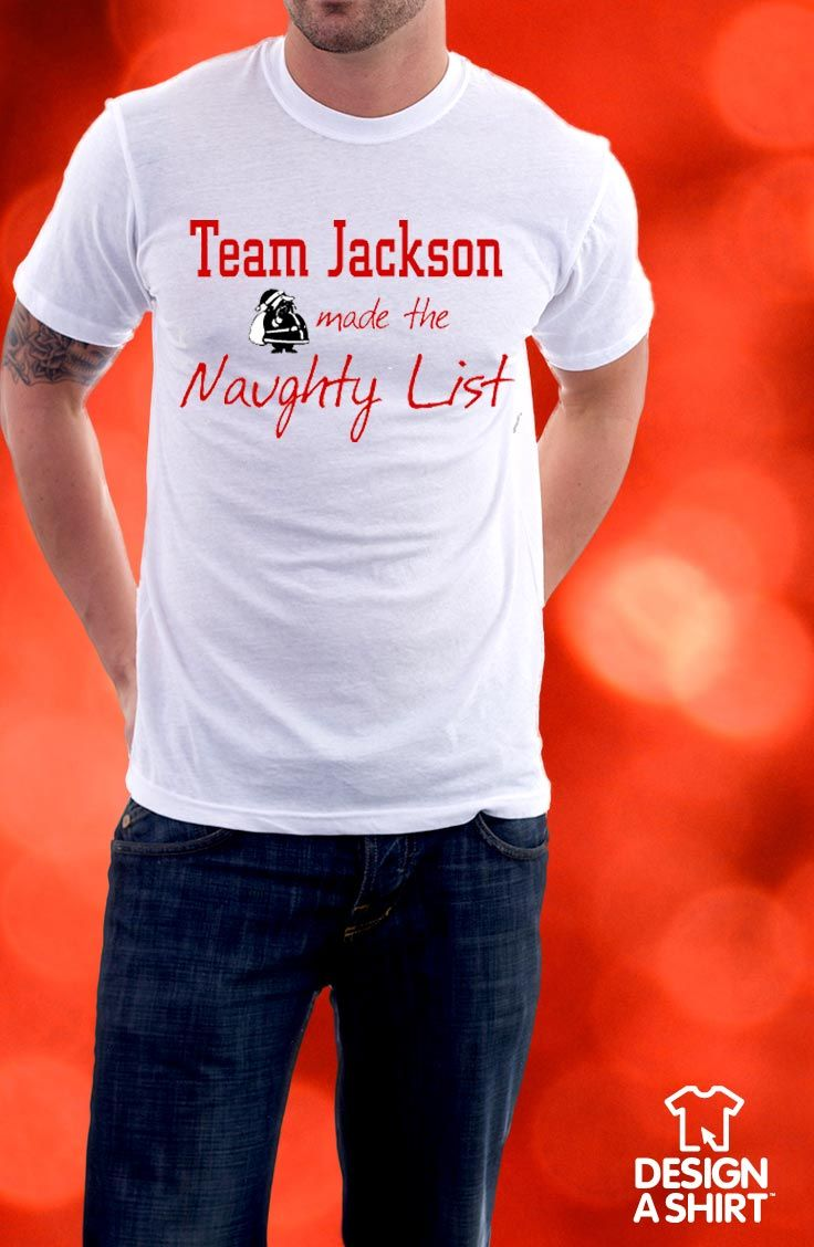 Xmas t shirt design - Make It A Real Family Christmas This Year With Personalized Family Name Christmas T Shirts