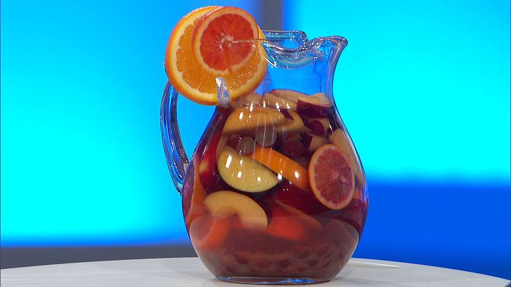 Virgin Sangria Water - 4 cups grapes (halved), 3 blood oranges (thinly sliced), 2 red apples (cored and sliced). Combine ingredients into large pitcher of water and gently muddle.