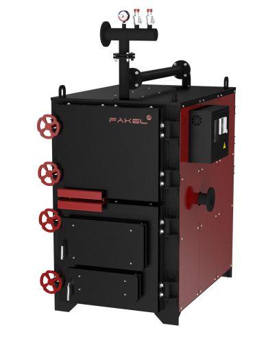 Котёл комбинированный FAKEL-М 150 кВт (Термокрафт) #PROPERTY_MAKER# на печном складе ФЛАММА  отдадим по цене #CAT_PRICE_1# #CAT_CURRENCY_1#    Котел комбинированный FAKEL-М («Факел М») 150 кВт   Комбинированные «жаротрубные» котлы FAKEL М – компактная мощность с высокой экономичностью.      Площадь отопления от 700 до 4000 м2       Основное топливо:   -Уголь, дрова   -Природный газ   - Жидкое топливо       Высокий КПД обеспечивается уникальной 3-х ходовой системой газоходов, надежной…